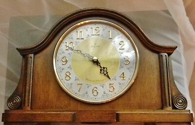 Bulova Chadbourne Old World Clock, Walnut Finish with Box