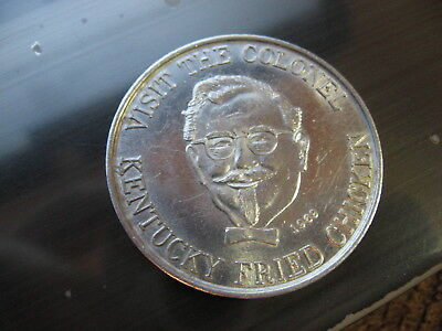 kentucky fried chicken colonel sanders mardi gras doubloon new orleans coin