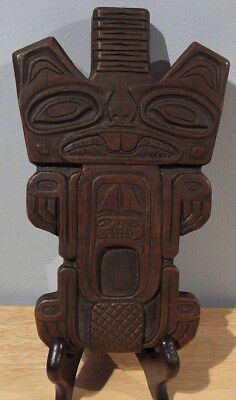 """SPIRIT DOCTOR'S CHARM """"The Beaver"""" Haida Indian Tribe wall plaque 7.5"""""""