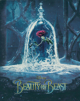 Beauty And The Beast - Live Action - 3D Blu-Ray + Blu-Ray - Steelbook - Rare New
