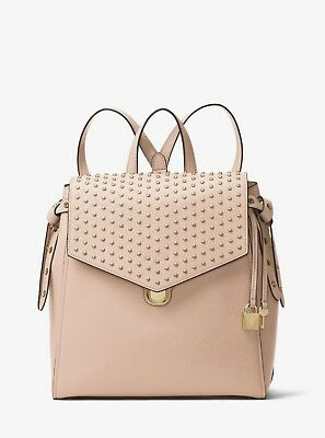 c90d1f07b7b4 Michael Kors Bristol Medium Backpack stud bookpack Travel Bag soft pink NWT
