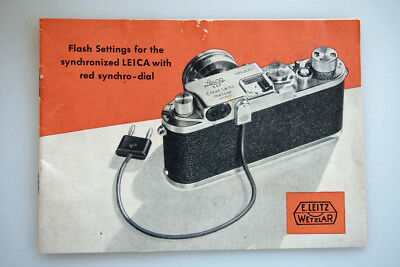 1950 Original Leica Leitz 15 pg book on the Flash Settings for Red-dial Leicas