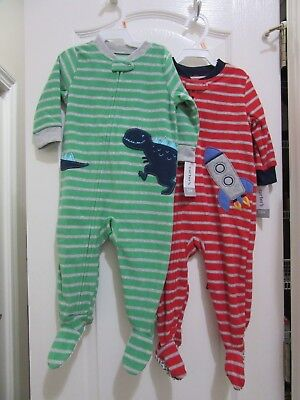 7c5a94dc6 BOY 12 MONTHS Carter s Fleece Footed Sleepers Pajama Clothes Lot ...