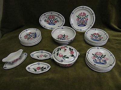 1920 Childs Miniature french Ironstone Partial Dinner Service H Boulenger 25pcs