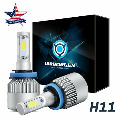 H11 LED Headlight 6500K 2018 8000LM 4-Side Kit Low Beam Bulbs High Power