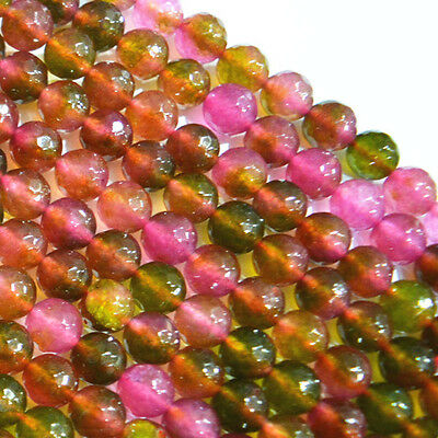 "New 8mm Multicolor faceted Tourmaline Round Loose Beads 15"" AAA"
