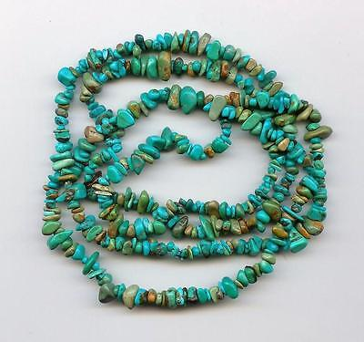 Real Turquoise Loose Pebble Chip Beads 36 Inch Strand Craft or Jewelry
