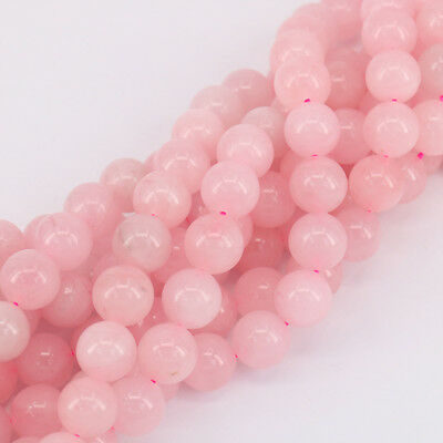 "Hot 15"" Strand Rose Quartz Gemstone Round Bead Loose Spacer Beads 4 6 8 10mm DIY"