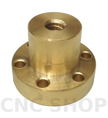 Clearance 12X3 Flange Trapezoidal Bronze Nut Acme Screw Lead Motion Vice