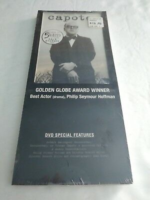 New Sealed Capote DVD Long Box Philip Seymour Hoffman Special Features