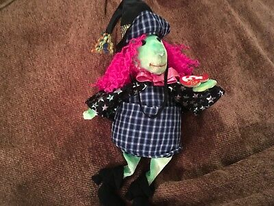 """Ty Beanie Baby """"Scary"""" the Witch New with Mint Tags"""