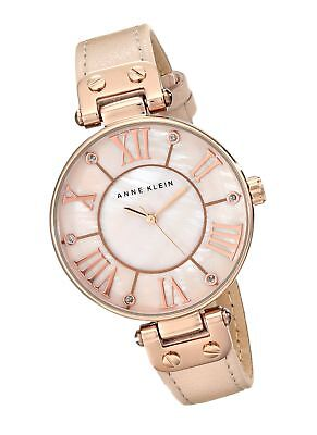 Anne Klein Women's Rose Goldtone Oversized Dial Strap Watch Mother's Day Gift