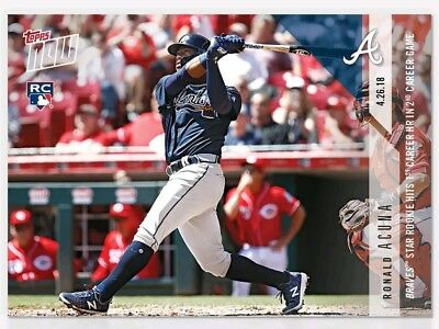 2018 Topps Now Ronald Acuna #129 Braves Star Rookie Hits 1st Career HR