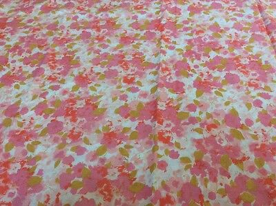 SB NEW Vintage Retro Pink Cotton Flower Design cotton bed sheet fabric FQ