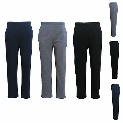 New Adult Mens Unisex Track Suit Fleece Lined Pants Sport Gym Work Casual Winter