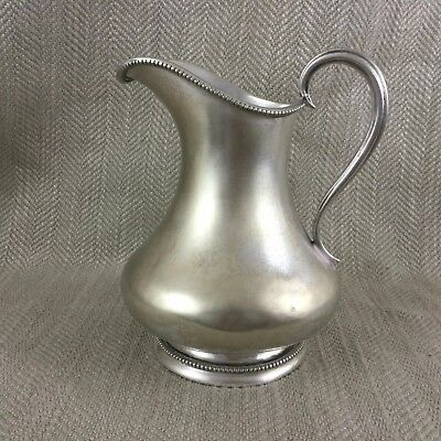 Antique Large Creamer Jug Silver Plate Late Victorian Bead Trim