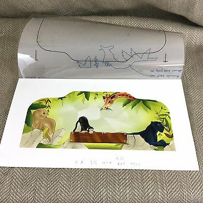 Rare Original Book Artwork Illustration Watercolor Painting Jungle Book Kipling