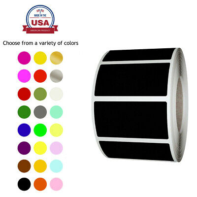 Rectangular Color Coding Lables in Rolls 1.57 Inch x 0.75 Inch 500 Pack Stickers