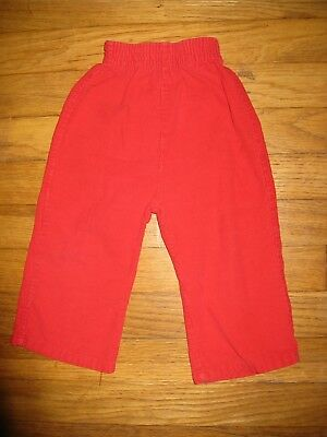 JcPenney Baby Boys Girls Size 18 Months/2T Red Corduroy Vintage Pants 1970/80's