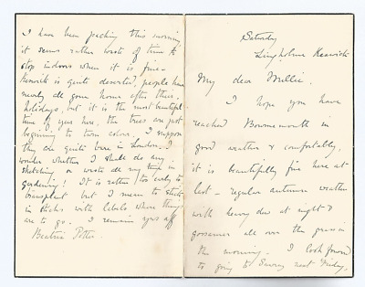 Original Beatrix Potter Signed Letter To Millie Warne (Extremely Rare)