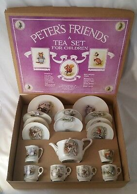BEATRIX POTTER GRIMWADES  PETER RABBIT AND FRIENDS TEASET BOXED Ca1923