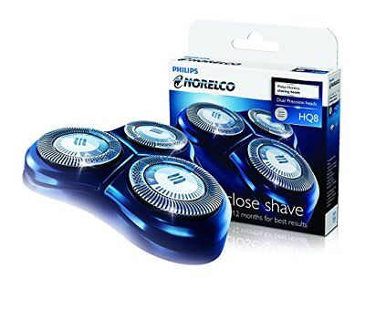 Genuine Philips HQ8 Replacement Shaver Heads Razor Blades Cutters (2yrs) Boxed