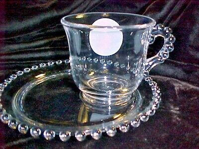 Candlewick By  Imperial Glass Co , 1,one Canape' Set.   4  Avail, Plate And Cup