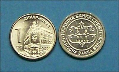 Serbia  2003 1 Dinar  Km34 Uncirculated