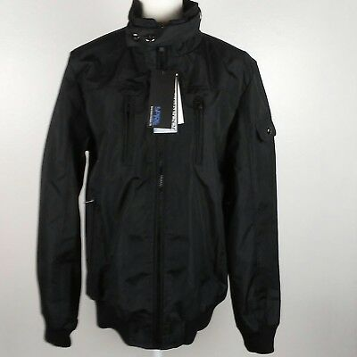 Spire Galaxy Mens Bomber Jacket Size Small Black Water Resistant Lined New Tags
