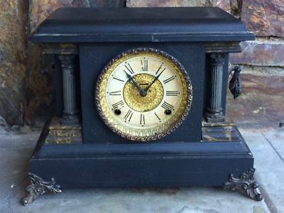 "Antique Ingraham Mantle clock Made in USA "" Parts Clock """