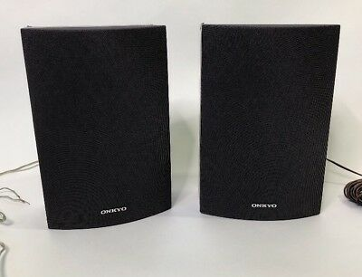 SET Of 2 Onkyo Surround Bookshelf Speakers SKB 530 8ohm 110W