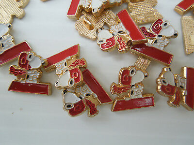 Red Baron Snoopy Enamel pin/button, 1965 plastic shank, 50 pieces #94900
