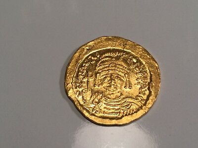 Fully Struck Mint State Maurice Tiberius Gold Solidus 582-602 AD