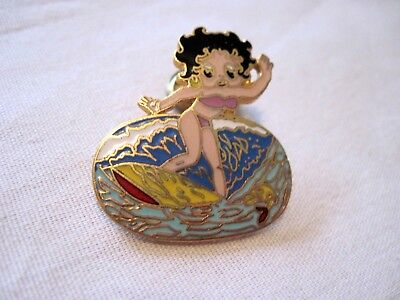 Betty Boop Surfer   Hat Pin ,lapel Pin ,vest Pin