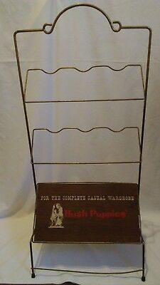 Vintage Metal Hush Puppies Shoe Rack