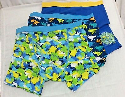 Boys' Jurassic World Boxer Briefs 3 Pair Size 8 Dinosaur Underwear 100% Cotton