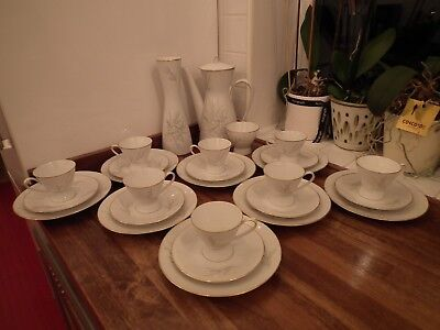 Rosenthal Germany Continental Grasses Pattern Coffee Set - 27 Pieces