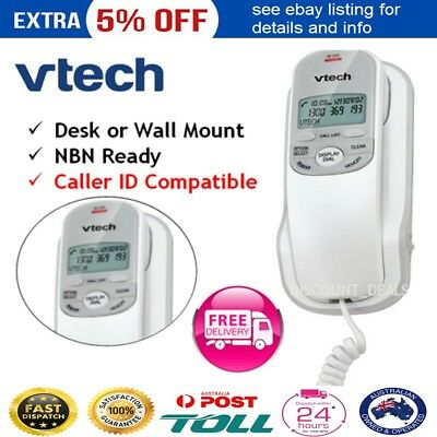 New VTech Corded Home Phone Desk Wall Mount Office Personal Caller ID Telephone