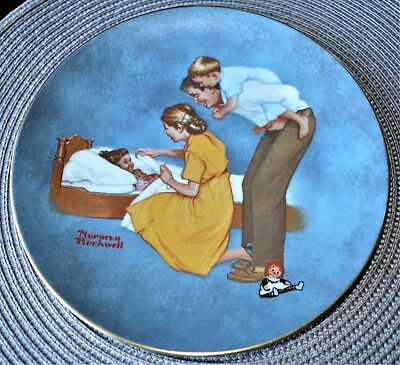 Norman Rockwell American Family Series II Sweet Dreams Plate See Pictures.