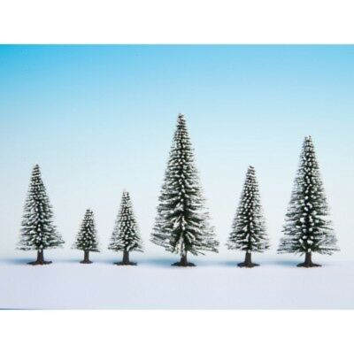 NOCH - 26928 Snow Fir Trees, 10 pieces, - 14 cm high H0,TT
