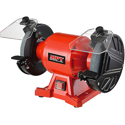 MPT Bench Grinder Industrial 150mm 250 Watt with Shields