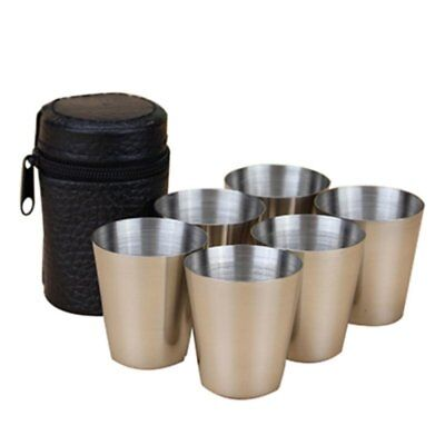 4/6pcs Stainless Steel Cup Mug Drinking Coffee Tea Tumbler Camping Travel Set