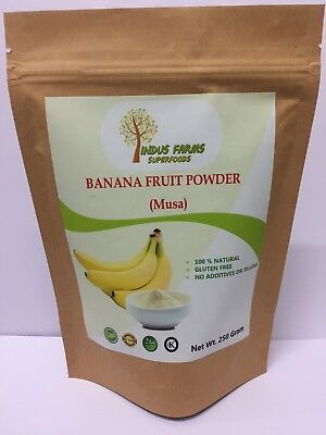 100% Pure Banana Powder, No Artificial Flavors or Preservatives or Fillers