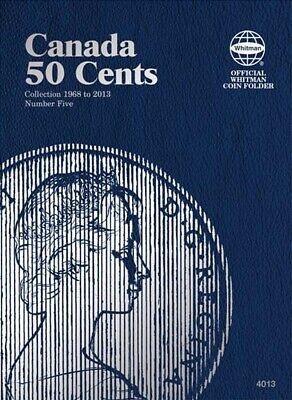 Whitman Blue Coin Folder For Canada Canadian 50 Cents Vol 5 1968 2014 Album 4013