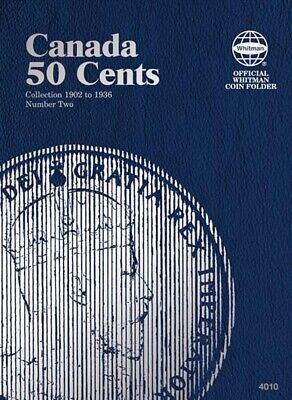 Whitman Coin Folder 4010 For Canada Canadian 50 Cents Vol 2 1902 1936 New Album