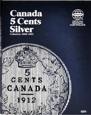 New Whitman Coin Folder For Canada Canadian 5 Cents Silver 1858 1921 Album 3201