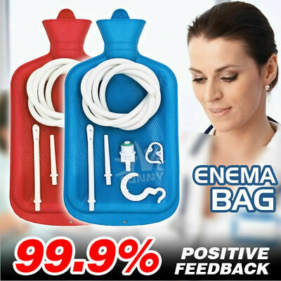 Adult Enema Kit Colon Cleanse Enema Bag BPA Free with Tubing 2L Hot Water Bottle