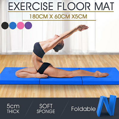 Gymnastics Exercise Tri Folding Mats Crash Floor 5cm Thick Tumbling Yoga Gym