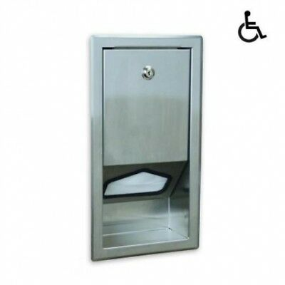 New Jd Macdonald Ssld Baby Change Table Liner Dispenser Recessed - Silver 247Mm