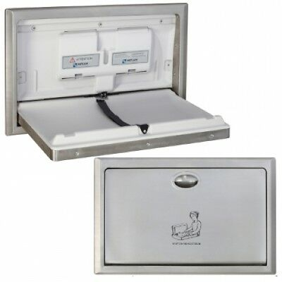 New Metlam Ml8200sm Baby Change Table Surface Mounted Horizontal - Silver Open: